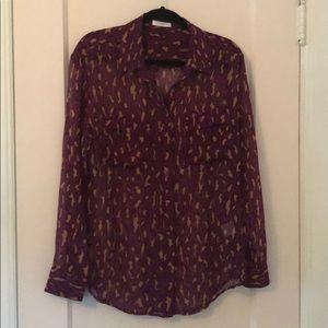 Equipment silk leopard print shirt